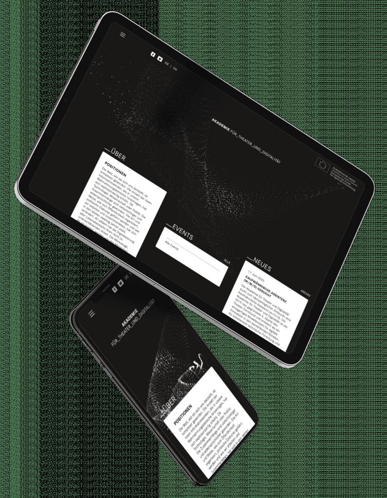 Akademie für Theater und Digitalität - UX / UI und Webentwicklung / MAAANY Werbeagentur Krefeld